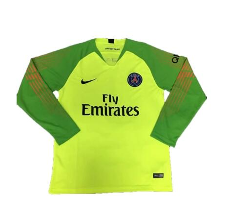 PSG Goalkeeper Long Sleeve Soccer Jerseys 2018-19 Green Football Shirts